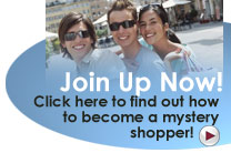 Mystery shopping Secret Shoppers